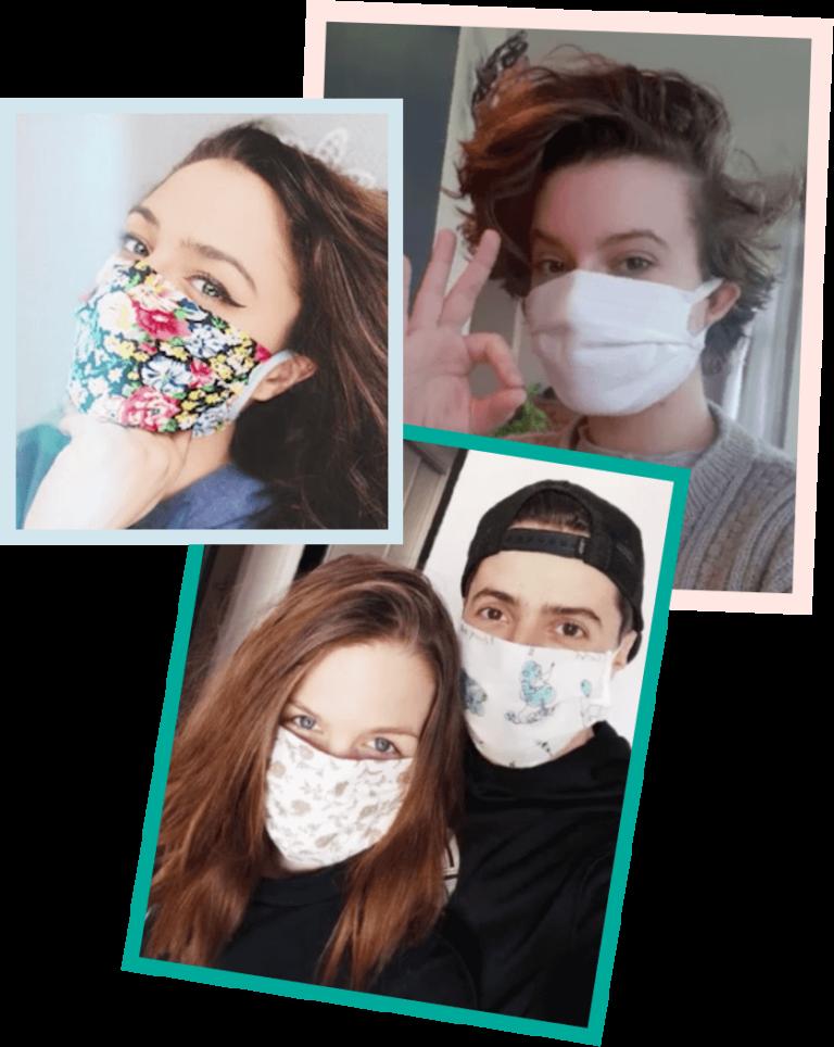 Zelfgemaakte mondmaskers